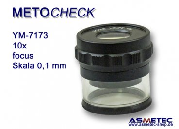 METOCHECK YM 7173 scale loupe 10x