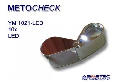 METOCHECK-YM1021-LED, 10x, aplanat triplet loupe