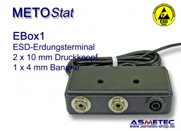 ESD-Terminal EBOX1, 2 x 10 mm snap, 1 x 4 mm banana socket