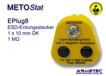 ESD Grounding-Plug EPlug8, 1 x 10 mm male snap
