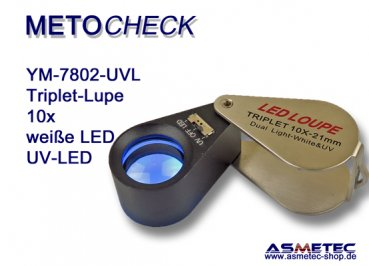 METOCHECK YM-7802-UV-LED, Triplet 10fach mit LED-Beleuchtung
