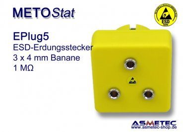ESD Grounding-Plug EPlug5, 3 x 4 mm banana socket