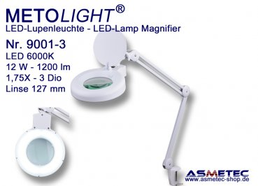Metolight LED Lamp Magnifier 9001-3