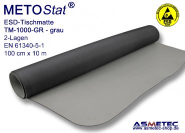 ESD-Table-Mat TM-1000GRE, solder proof, antistatic table mat, dissipative