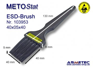 Metostat ESD-Brush 400540B, antistatic, dissipative - www.asmetec-shop.de
