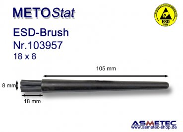 Metostat ESD-Brush 1808BG, antistatic, dissipative - www.asmetec-shop.de