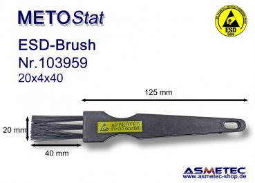 Metostat ESD-Brush 200440B, antistatic, dissipative - www.asmetec-shop.de
