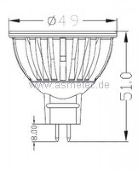 asmetec shop led lichttechnik und techn produkte led spot mr16 3watt farbig. Black Bedroom Furniture Sets. Home Design Ideas
