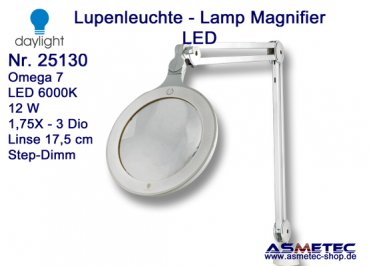 Daylight LED Lamp Magnifier 25130 - www.asmetec-shop.de