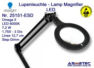 Daylight LED Lamp Magnifier 25151-ESD