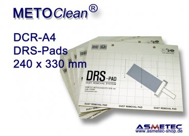 METOCLEAN DTS-DCR-A4-08-20, Adhäsiv-Pads 240 x 330 mm - Sparpackung
