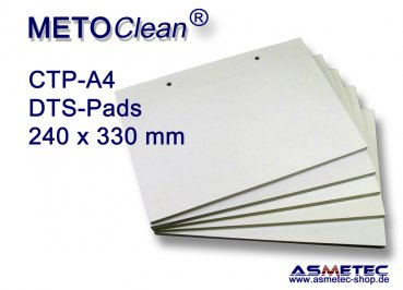 METOCLEAN DTS-CTP-A4-20, Adhäsiv-Pads 240 x 330 mm - extra stark - Spackpackung