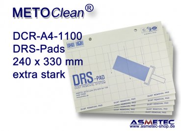 METOCLEAN DTS-DCR-A4-1100-20, Adhäsiv-Pads 240 x 330 mm - extra stark - Sparpackung