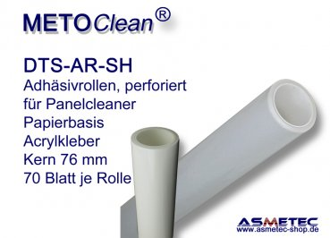 METOCLEAN adhesive rolls, perforated, for panel cleaners - www-asmetec-shop.de