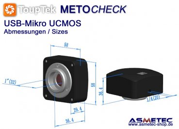 Touptek USB-camera UMOS, 9MP - www.asmetec-shop.de