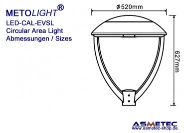 Metolight LED-Laternenaufsatz CAL-EVSL-030, 30 Watt - www.asmetec-shop.de