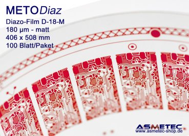 Diazofilm METODIAZ D-18-M, matted, 406 x 508 mm, 100 sheets