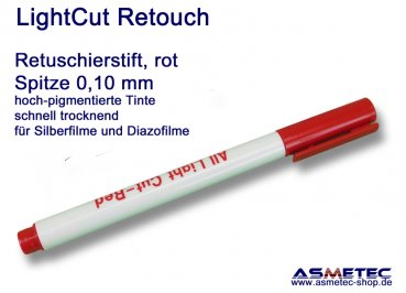 LightCut Retouching Pen, red, 0,1 mm tip