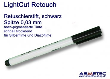 LightCut Retouching Pen, black, 0,03 mm tip