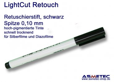 LightCut Retouching Pen, black, 0,1 mm tip
