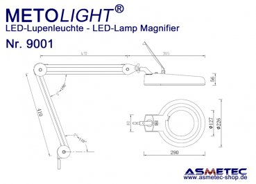 Metolight LED Lamp Magnifier 9001