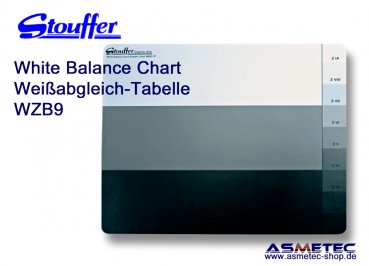 Stouffer WBZ9, 9 step, White Balance Zone System Chart