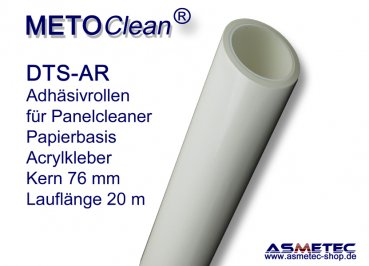 METOCLEAN DTS-AR-0650, Adhesive rolls, 650 mm, box of 4 rolls