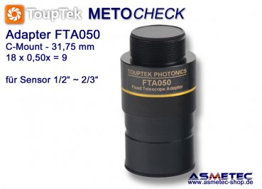 Camera adapter ToupTek FTA050 for telescopes