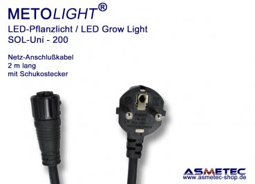 Metolight Growlight Sol-Uni-Power cabel with 3pin Plug