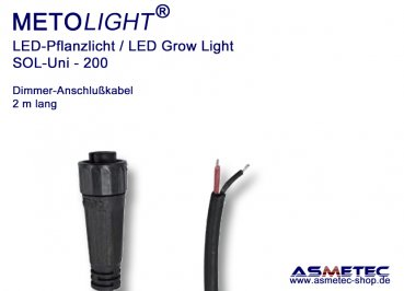 Metolight Growlight Sol-Uni, Dimmer connector-cable, 2 m long