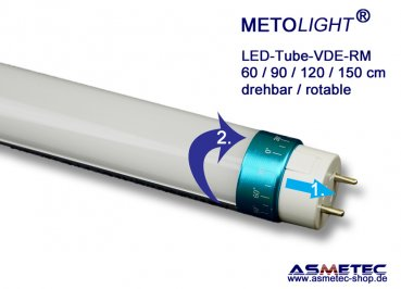 METOLIGHT LED-Röhre VDE-RM 60 cm, 10 Watt, 1100 lm, warmweiß, Matt, A++ - www.asmetec-shop.de