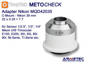 Nikon TV-Adapter MQD035, adapter C-Mount - www.asmetec-shop.de