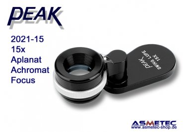 PEAK-2021-15 Schwenklupe 15x, www.asmetec-shop.de, peak optics, PEAK-Lupe