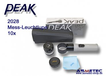 PEAK-2028 Leuchtlupe 10x www.asmetec-shop.de, PEAK optics, PEAK-Lupe