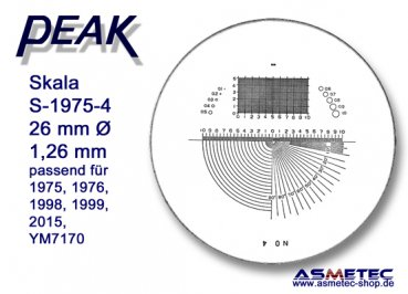 Peak glas scale 1975-4 for scale loupe 1975, - www.asmetec-shop.de