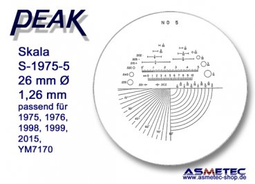 Peak Ersatzskala 1975-5 für Messlupe 1975 - www.asmetec-shop.de, PEAK-Optics