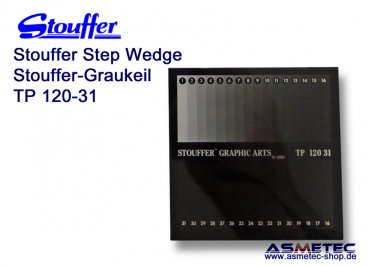 Stouffer TP120-31, 31 step transmission projection step wedge, increment 0.10