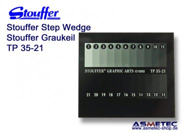 Stouffer TP35-21, 21 step transmission projection step wedge, increment 0.15