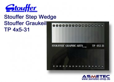 Stouffer TP4x5-31, 31 step transmission projection step wedge, increment 0.10