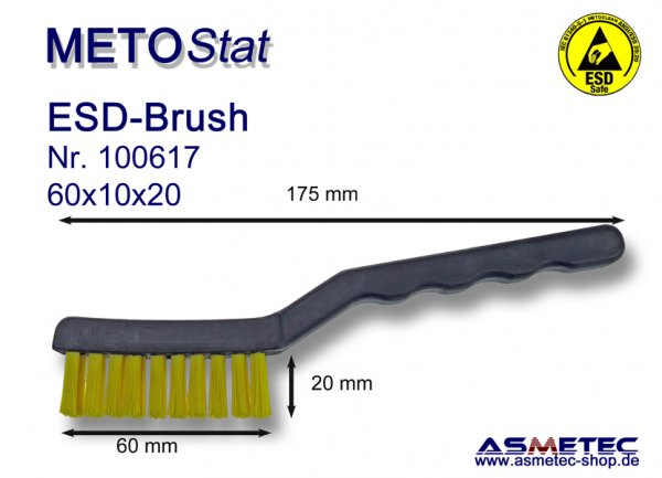 Metostat ESD-Brush 601020G, antistatic, dissipative - www.asmetec-shop.de