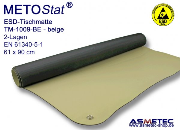 ESD-Table-Mat TM-1009BE beige, 61x90 cm