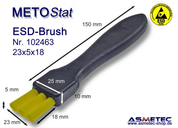 Metostat ESD-Brush 190518G, antistatic, dissipative - www.asmetec-shop.de