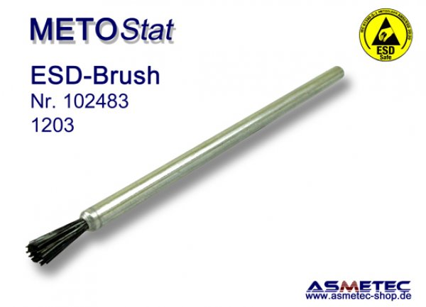 Metostat ESD-Brush 1203G, antistatic, dissipative - www.asmetec-shop.de