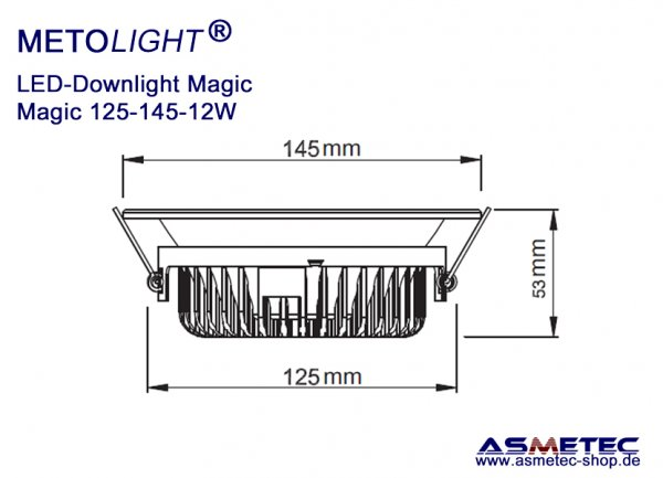 Metolight LED Downlight Magic-110, 12 Watt