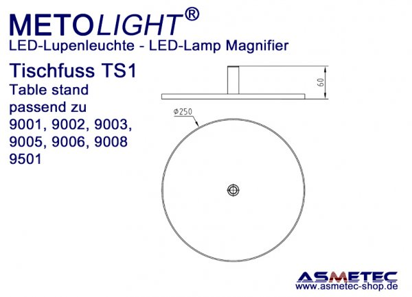 table stand for Metolight LED Lamp Magnifier
