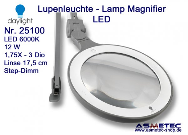 Daylight LED Lamp Magnifier 25100 - www.asmetec-shop.de