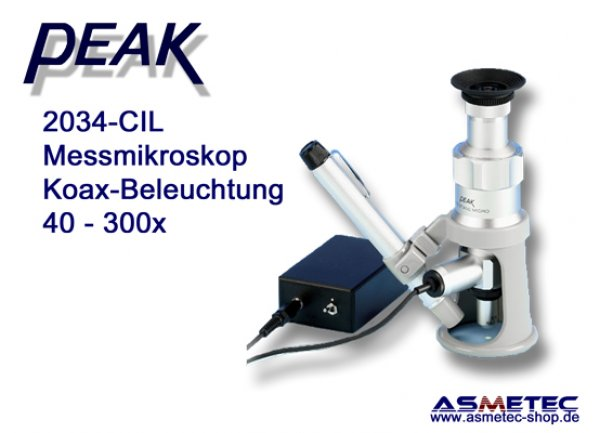 PEAK-2034-CIL-100 Microscope, 100x, coax light - www.asmetec-shop.de