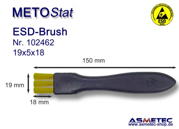 Metostat ESD-Brush 230518G, antistatic, dissipative - www.asmetec-shop.de