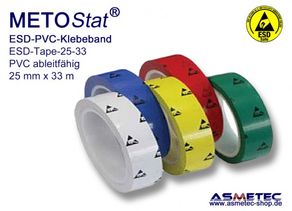 Metostat ESD PVC glue tape, blue - www.asmetec-shop.de