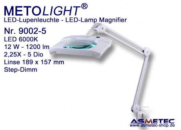 Metolight LED Lamp Magnifier 9002